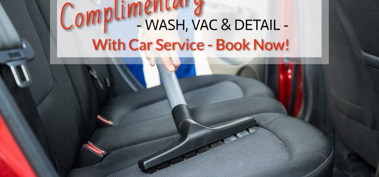 Special Offer Free Car Cleaning with Service