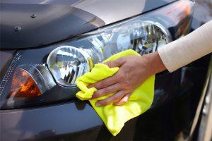 car being polished after logbook service at Sunshine Coast mechanic Marcoola